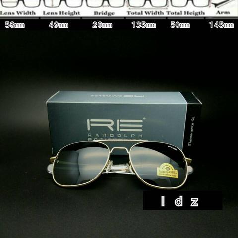 Frame Kacamata Aviator Randolph Engineering Gold Good Quality