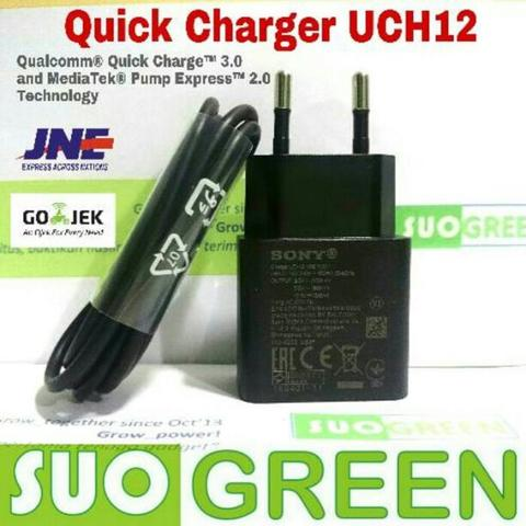 Fast Charger Sony Original UCH12 Micro USB QC3 PE2