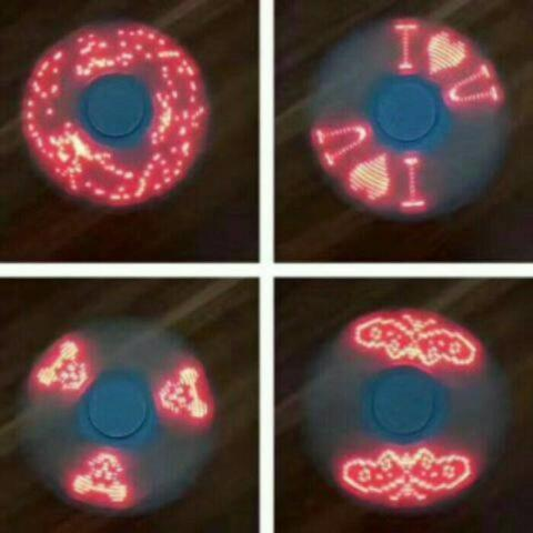 FIDGET SPINNER LED LAMPU I LOVE U HAND SPINNER TOYS MAINAN