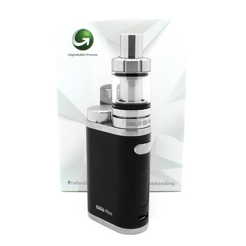 iStick PICO 75W TC Mini Mod (Authentic By ELEAF) With Melo v3 Minitan