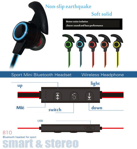 SPORTS AWM-810 Sport Bluetooth Earhphone Headset STEREO WIRELWSS
