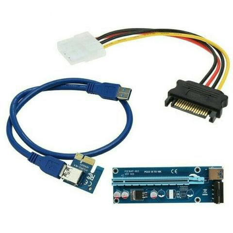 USB 3.0 pcie pcie-e pci express 1x to 16x riser card bitcoin mining