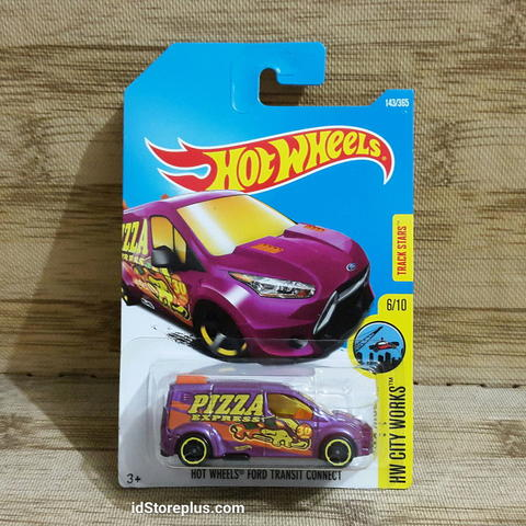 DIECAST HOT WHEELS FORD TRANSIT CONNECT PIZZA EXPRESS HW CITY WORKS TRACK STARS