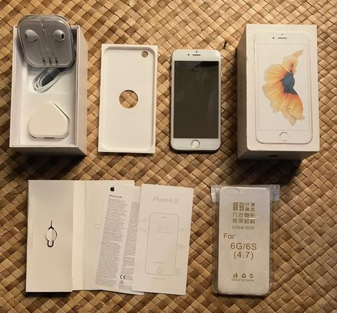 iPhone 6s 64GB Gold FU Fullset Original Mulus (Malang)