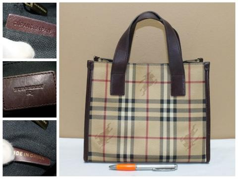 Tas branded BURBERRY LONDON BUR222 Handbag nova second bekas ori asli