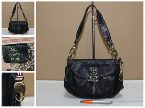 Tas branded TOCCO TT188 Black shoulder bag second bekas original asli