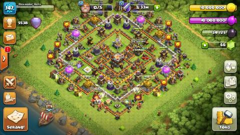Jual Akun COC TH11 Max (clash of clans)