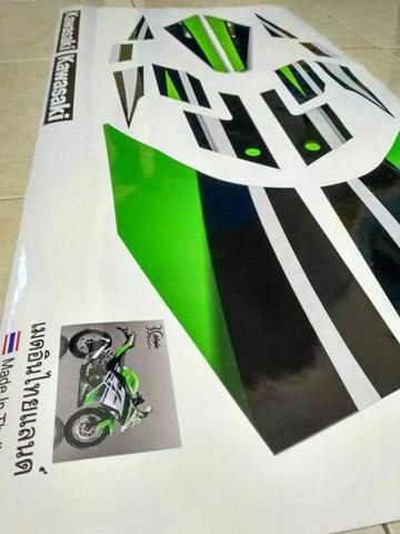Striping ninja 250 FI ABS SE 2015 hijau putih 30th Univer