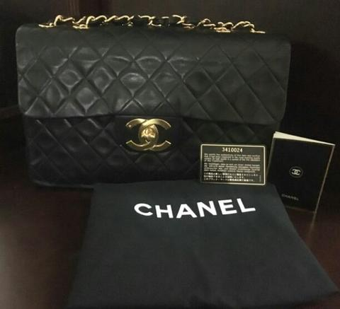 chanel maxi lambskin GHW authentic original