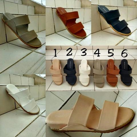sendal charles and keith two strap flat size 36-40 barang terbatas good quality