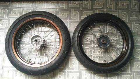 velk wheelset supermoto klx TK JAPAN