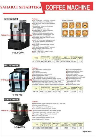 FULL AUTOMATIC COFFEE MACHINE TIPE ME-709
