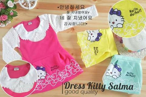 LS DRESS KITTY SALMA (IMPORT)