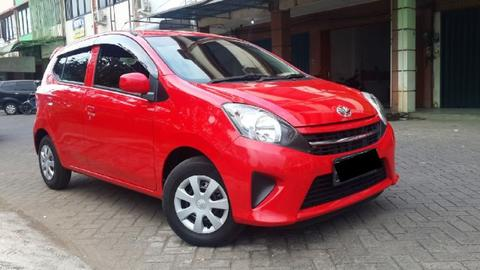 toyota agya E 2016 merah km 15rb tdp19 full original AT