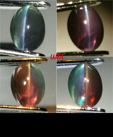 Natural REAL Cat's Eye Alexandrite chrysoberyl body glass Strong Color Change
