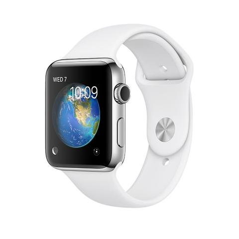 NEW Apple WATCH 42MM┃Stainless Steel┃RED or BLUE or White Sport Band┃TT iPhone 7
