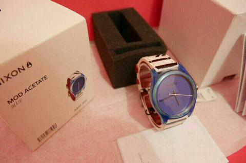Nixon The Mod Acetate Blue BNWT