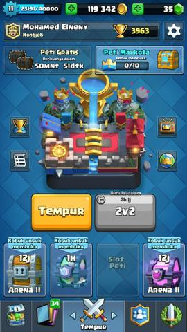 CHAR CLASH ROYALE LV 11 + UNLOCK ALL CARD (termasuk CANON CART) + LEGEND LENGKAP