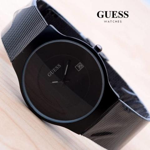 JAM TANGAN GUESS PASIR DATE FULL BLACK