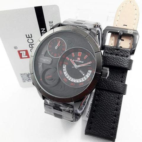 JAM TANGAN NAVIFIRCE ORIGINAL NF9091 TRIPLE TIME