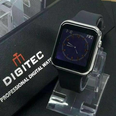 JAM TANGAN TOUCH SCREEN DIGITEC ORIGINAL DG3049 BLACK SILVER