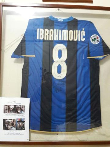size 40 c9215 6829c Jersey IBRAHIMOVIC Inter Milan musim 2008/2009 Match Issued Shirt Home  Signed