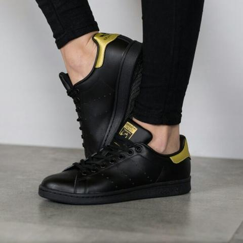 new style eb536 908da TERJUAL PREMIUM QUALITY Adidas Stan Smith Triple Black Gold