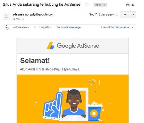 Akun Adsense Indo Full Approve Non Hosted