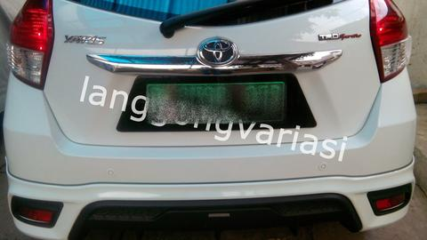 cover plat nomor acrylic cembung all new yaris TRD 2014,2015,2016,2017