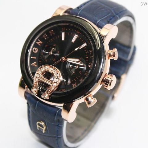 Jam Tangan Aigner Bari SKY-02 Leather Blue