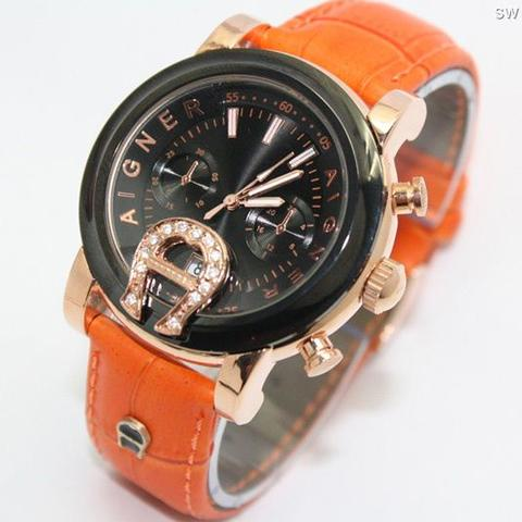 Jam Tangan Aigner Bari SKY-02 Leather Orange