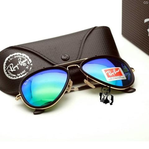 kacamata rayban Aviator 3428 Gold Black Green Kacamata Uv Protection