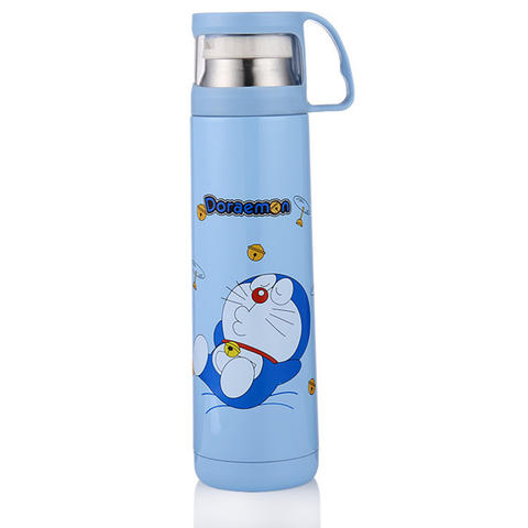 Botol MInum / Botol Thermos Kartun Stainless Steel 500ML - Blue