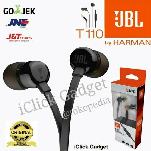 Headset JBL T110 Headphone / Earphone With Microphone Original 100%