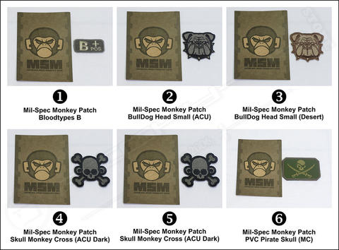 Original Mil-Spec Monkey Airsoft Military Patch Series 1