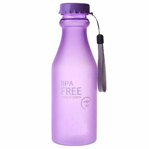 Botol Minum BPA Free 550ml - Ungu, Blue, Green, Yellow
