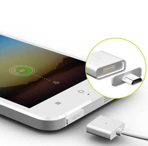 Kabel Magnetic Charger USB / Kabel Micro USB Magnetic - Silver