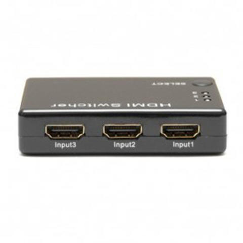 HDMI Switch 3 Port Full HD 1080P with Remote Control - Black