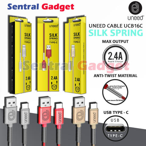Kabel Data & Charging UNEED Silk Spring Type C FAST CHARGE CABLE UCB16C
