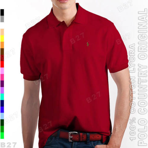 POLO COUNTRY C5-24 Original Kaos Kerah Polo Pria Cotton Lycra Maroon