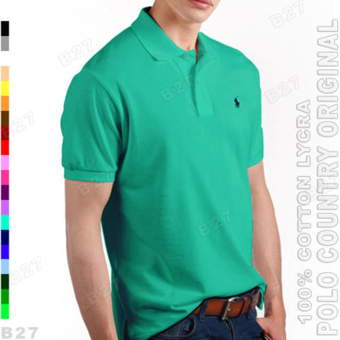 POLO COUNTRY C5-32 Original Kaos Polo Shirt Pria Cotton Lycra Tosca