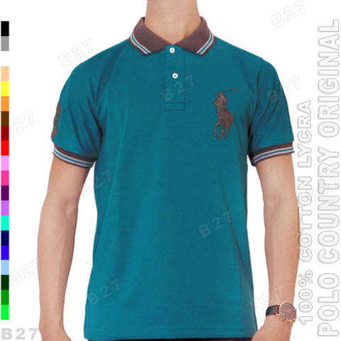 POLO COUNTRY C1-33 Original Kaos Kerah Polo Pria Cotton Tosca Tua