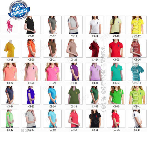 POLO COUNTRY C3-0 Original Kaos Polo Shirt Wanita Cotton Lycra