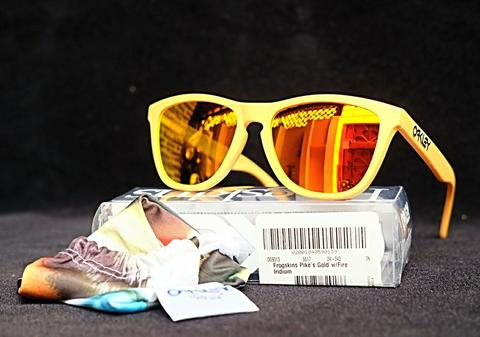Original kacamata Oakley Frogskins Pikes Gold edition fire iridium