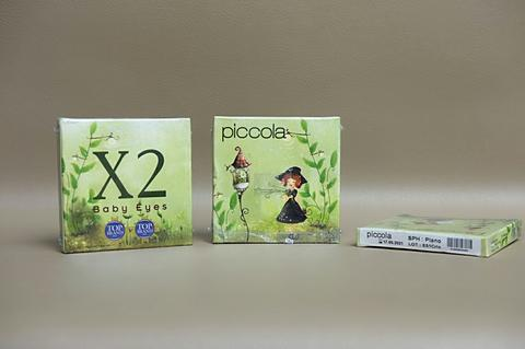 Softlens X2 seri Piccola baby eyes black normal by exoticon murah