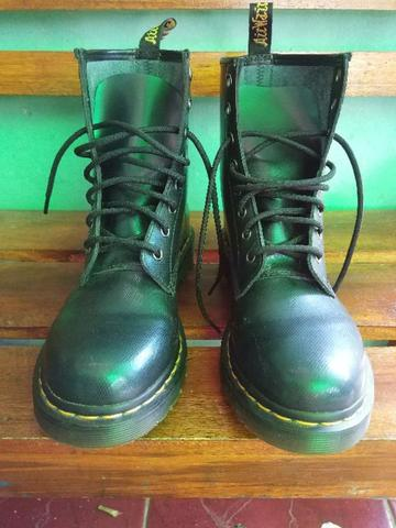 Dr. Martens 1460 Green Tracer Leather Boots