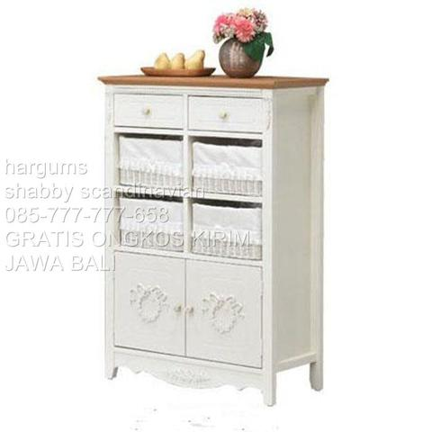 Hargums Scandinavian Lemari Rosemary 8 Susun Top Oak Free Ongkir