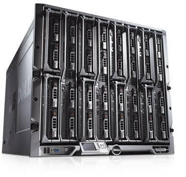 Enclosure DELL M1000e & 16 unit blade server