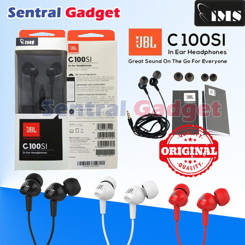 EARPHONE JBL CL100SI ORIGINAL GARANSI RESMI WITH MIC HEADSET BY HARMAN