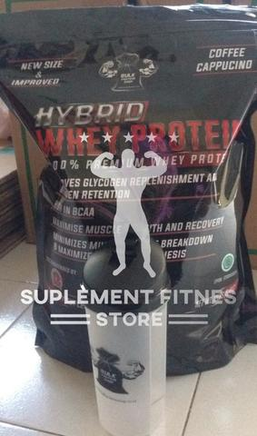 Suplement Fitnes Store ● HYBRID Whey Protein + FREE SHAKER* ● HALAL & Harga Ciamik